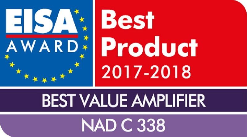 Wzmacniacz zintegrowany NAD C 338 zdobywcą nagrody EISA