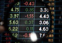 Tablica z kursami walut jako symbol spreadu walutowego